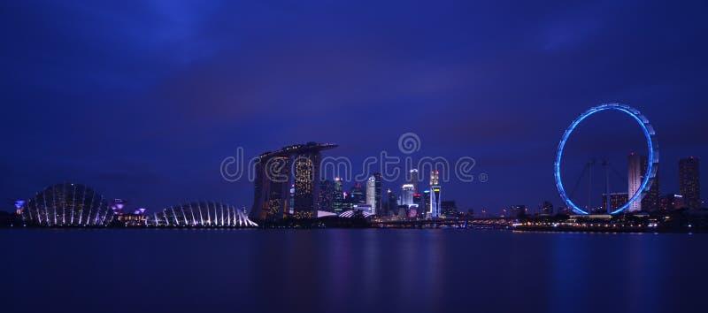 Μπλε ώρα της Σιγκαπούρης στοκ φωτογραφία με δικαίωμα ελεύθερης χρήσης
