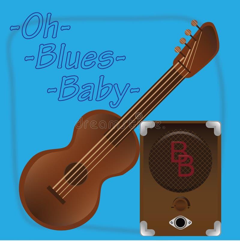Μπλε baby2 OH ελεύθερη απεικόνιση δικαιώματος