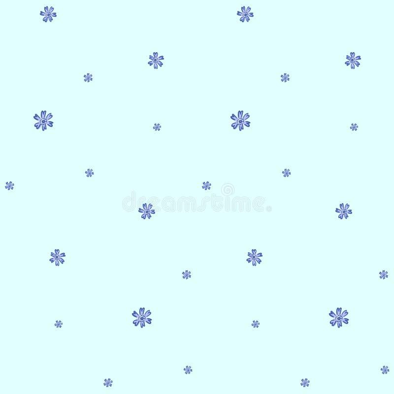 Μπλε floral σχέδιο με forget-me-not τα λουλούδια απεικόνιση αποθεμάτων