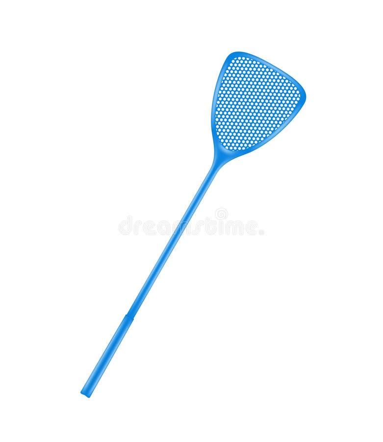 Μπλε flyswatter απεικόνιση αποθεμάτων