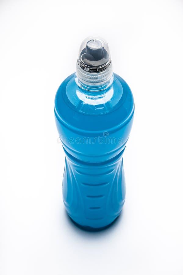 Μπλε isotonic ποτό στοκ εικόνες