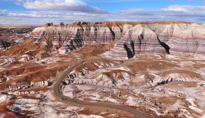 Μπλε Mesa στο πετρώνω δασικό εθνικό πάρκο, Αριζόνα ΗΠΑ στοκ φωτογραφίες