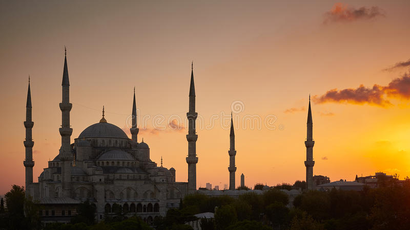 Μπλε Mosk στη Ιστανμπούλ στοκ φωτογραφίες με δικαίωμα ελεύθερης χρήσης
