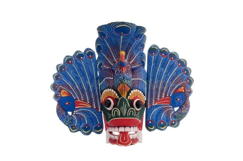 Μπλε Peacock Sri μάσκα Lankan στοκ φωτογραφία με δικαίωμα ελεύθερης χρήσης