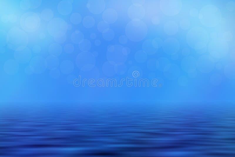 Μπλε Seascape υπόβαθρο ελεύθερη απεικόνιση δικαιώματος