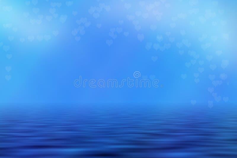 Μπλε Seascape υπόβαθρο απεικόνιση αποθεμάτων