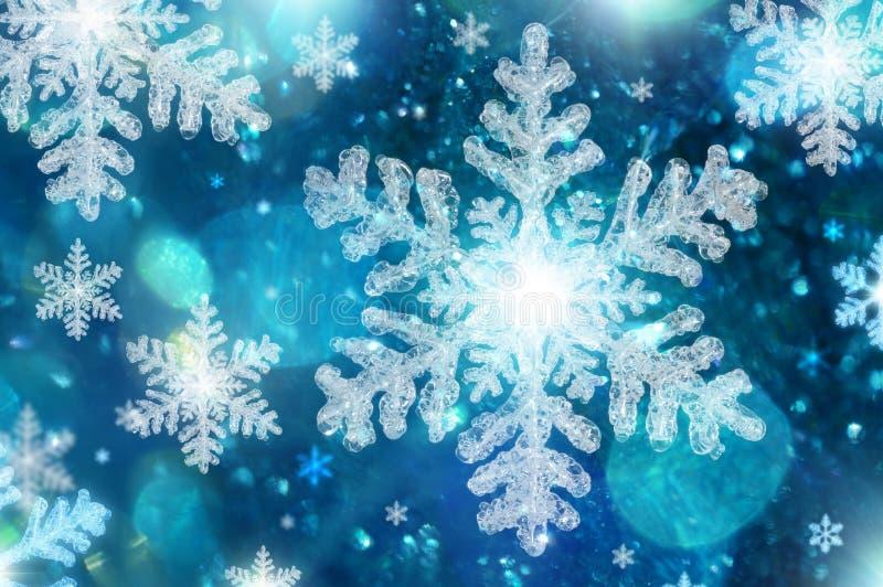 μπλε snowflakes Χριστουγέννων ανασκόπησης διανυσματική απεικόνιση