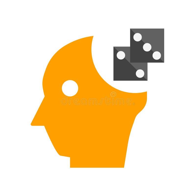 Μυαλού παιχνιδιών σημάδι και σύμβολο εικονιδίων διανυσματικό που απομονώνονται στο άσπρο υπόβαθρο, έννοια λογότυπων παιχνιδιών μυ ελεύθερη απεικόνιση δικαιώματος