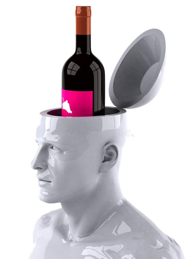 μυαλό αλκοόλης διανυσματική απεικόνιση
