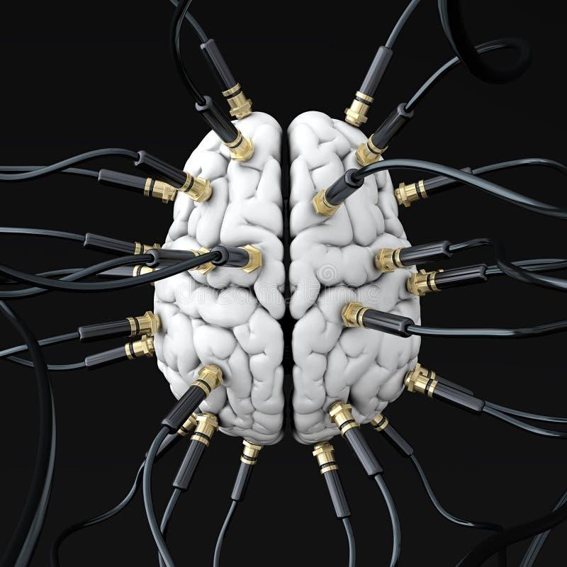 μυαλό ελέγχου διανυσματική απεικόνιση