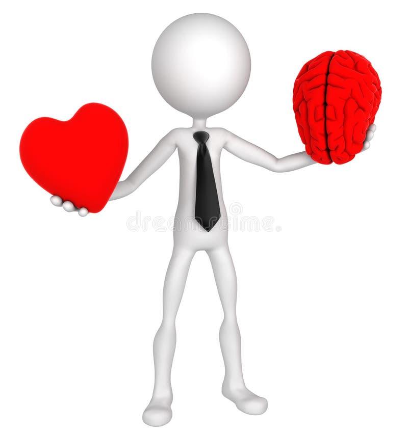 μυαλό καρδιών επιχειρημα&t διανυσματική απεικόνιση