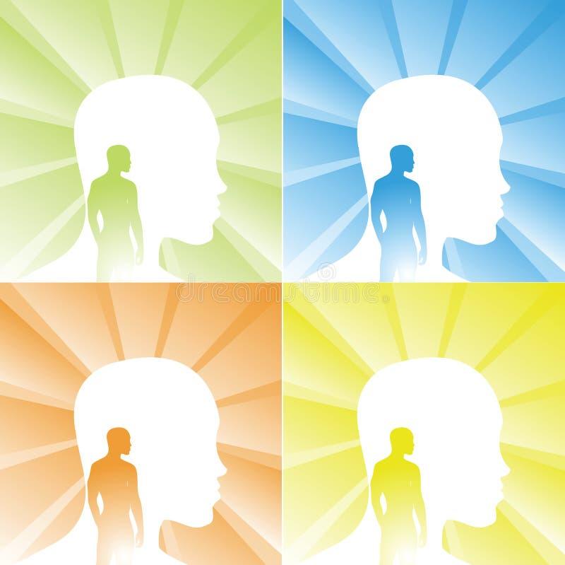 μυαλό σωμάτων διανυσματική απεικόνιση