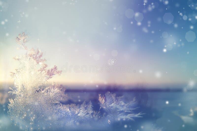 Μυθικός παγετός στο παράθυρο, όμορφο τοπίο στοκ φωτογραφία με δικαίωμα ελεύθερης χρήσης