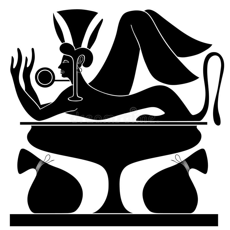 μυθικός ταμίας πλασμάτων ελεύθερη απεικόνιση δικαιώματος