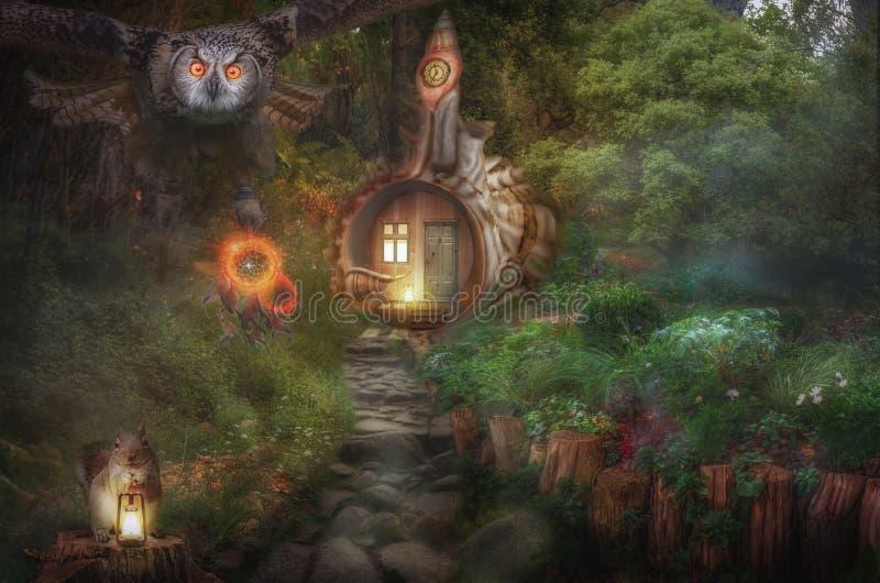 Μυθικό σπίτι Dreamcatcher στοκ φωτογραφίες με δικαίωμα ελεύθερης χρήσης