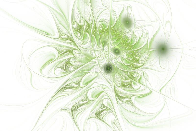 Μυθικό floral fractal σχέδιο σε πράσινο ελεύθερη απεικόνιση δικαιώματος