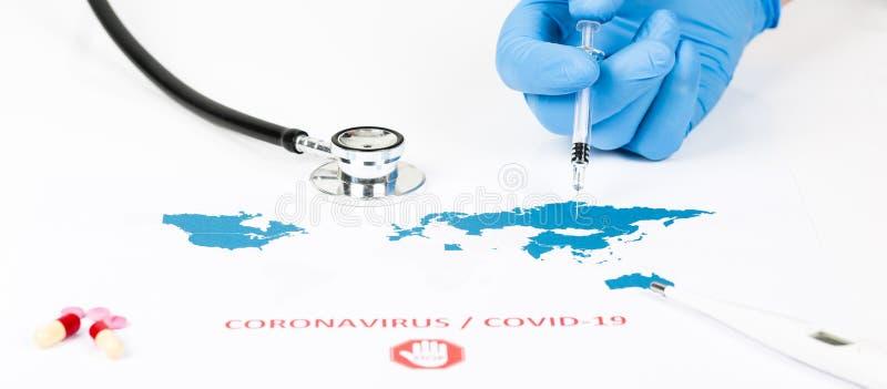 Μυθιστόρημα Coronavirus, covid-19, ιδέα του ιού Wuhan από την Κίνα στοκ φωτογραφία