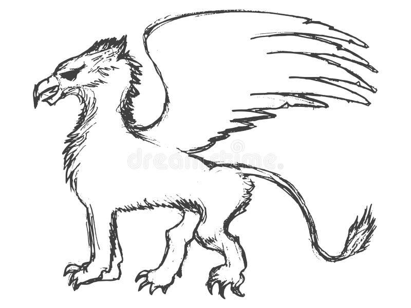 Μυθολογικό ζώο του Griffin ελεύθερη απεικόνιση δικαιώματος
