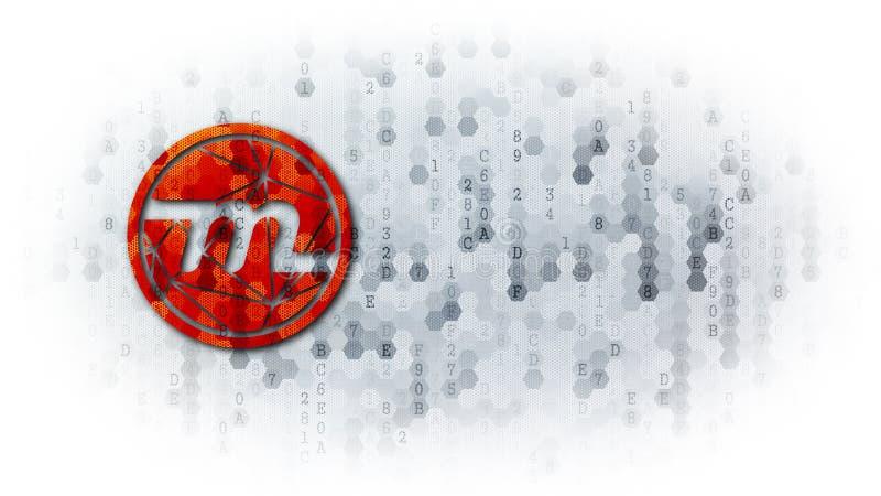 Μυριάδα - σημάδι εμπορικών συναλλαγών στο ψηφιακό υπόβαθρο στοκ εικόνα