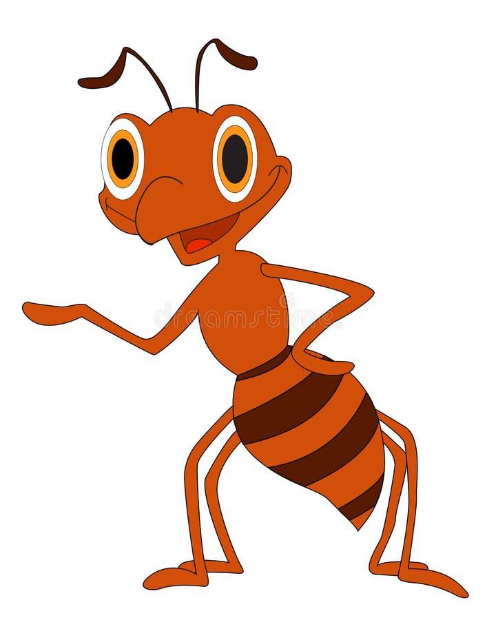 Μυρμήγκι κινούμενων σχεδίων ελεύθερη απεικόνιση δικαιώματος