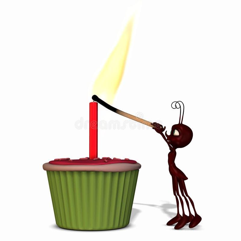 μυρμήγκι 3 cupcake διανυσματική απεικόνιση
