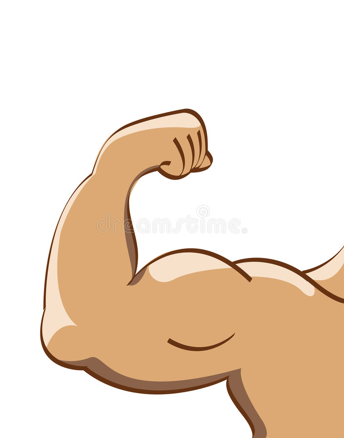 μυς ατόμων διανυσματική απεικόνιση