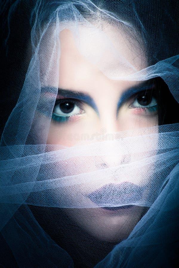 μυστήρια γυναίκα πορτρέτ&omicron στοκ εικόνες
