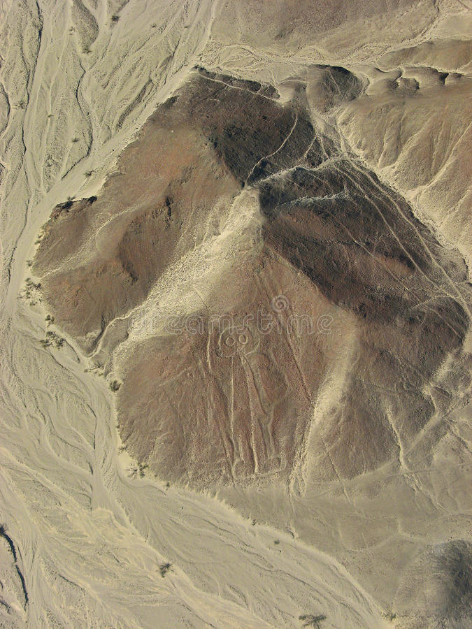 Μυστήριες μορφές μορφών σε Nazca στο Περού στοκ εικόνες