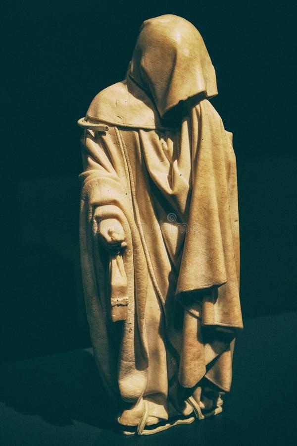 Μυστήριο friar άγαλμα μοναχών στοκ εικόνα