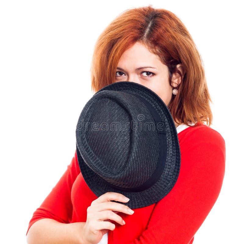Μυστική γυναίκα στοκ φωτογραφία με δικαίωμα ελεύθερης χρήσης