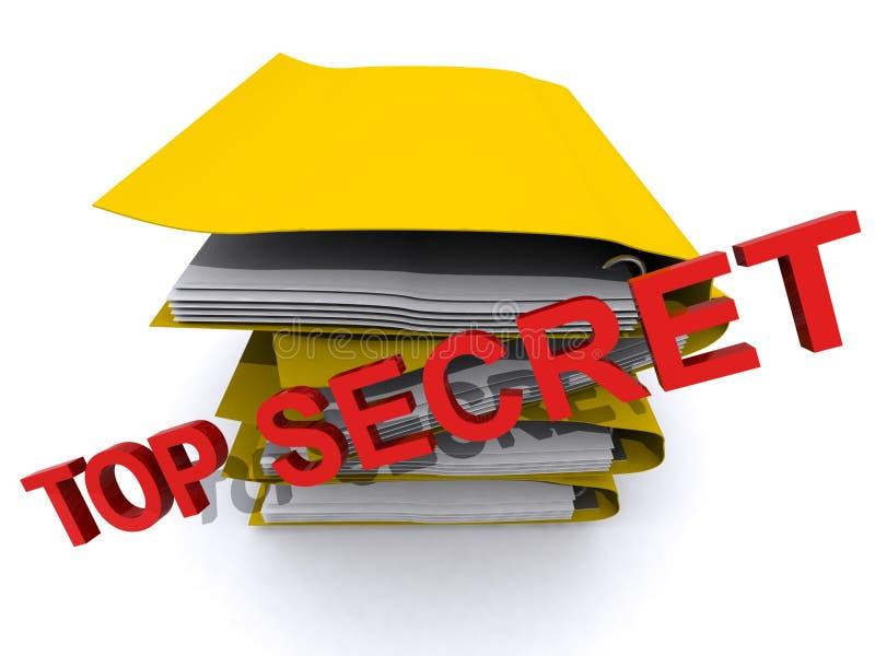 μυστική κορυφή εγγράφων διανυσματική απεικόνιση