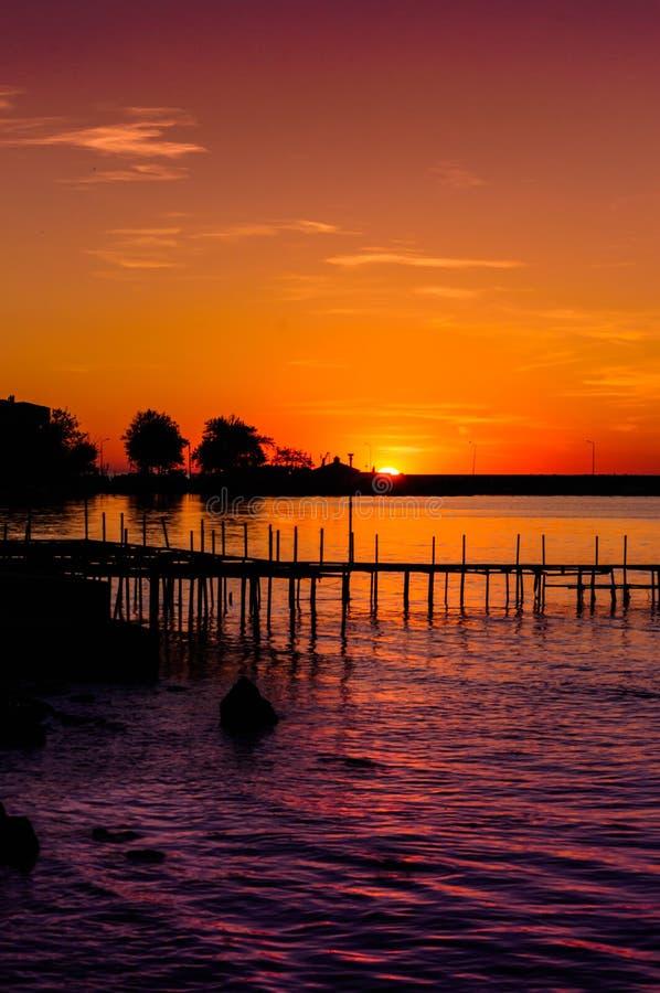 Μυστικός κόλπος ηλιοβασιλέματος στοκ εικόνες