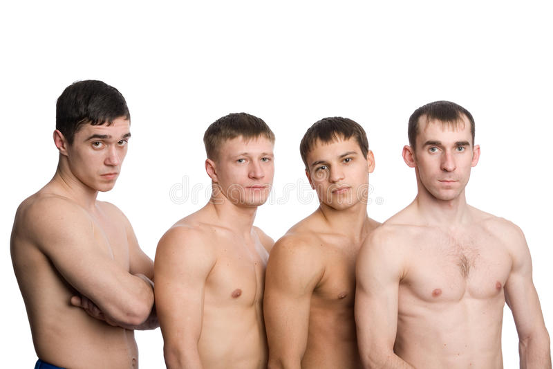μυϊκές νεολαίες τύπων ομάδ στοκ φωτογραφίες