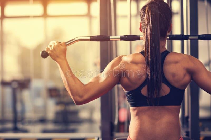 Μυϊκή άσκηση bodybuilder στοκ εικόνες