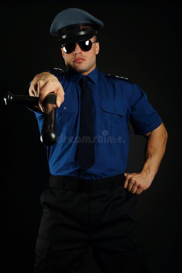 Μυϊκός αστυνομικός στοκ εικόνα με δικαίωμα ελεύθερης χρήσης