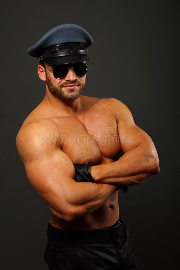 Μυϊκός αστυνομικός στοκ φωτογραφίες