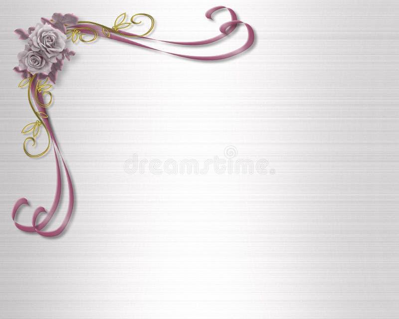 μωβ γάμος τριαντάφυλλων π&rh διανυσματική απεικόνιση