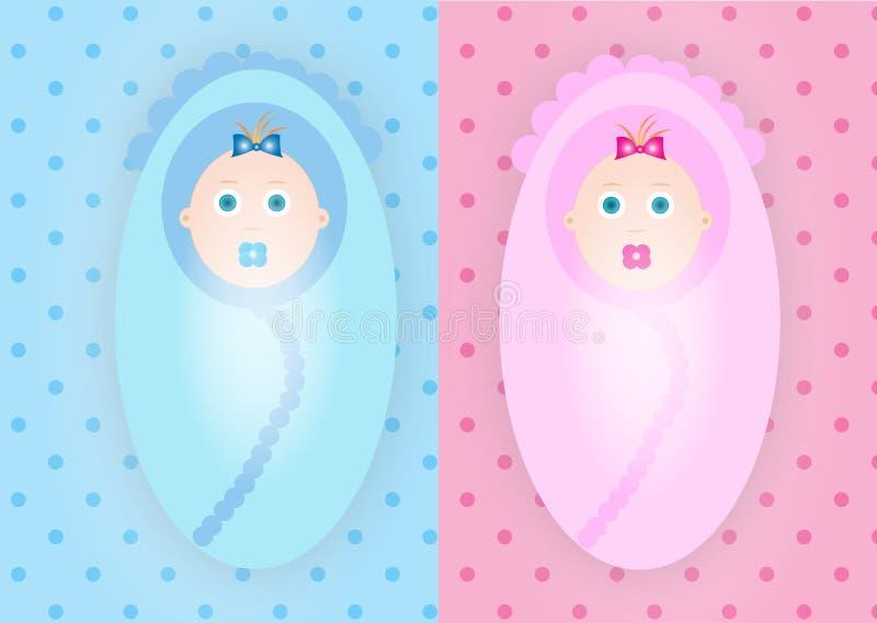 Μωρά αγοριών και κοριτσιών απεικόνιση αποθεμάτων
