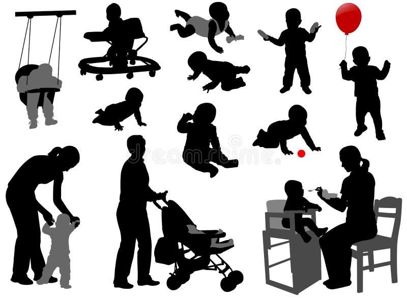 Μωρά και μικρά παιδιά απεικόνιση αποθεμάτων