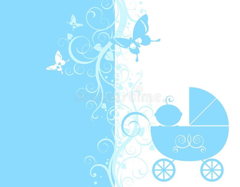 μωρό ανακοίνωσης διανυσματική απεικόνιση