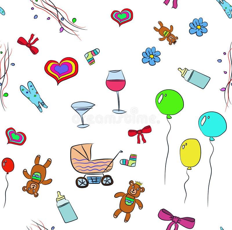 Μωρό γενεθλίων υποβάθρου στοκ φωτογραφία με δικαίωμα ελεύθερης χρήσης