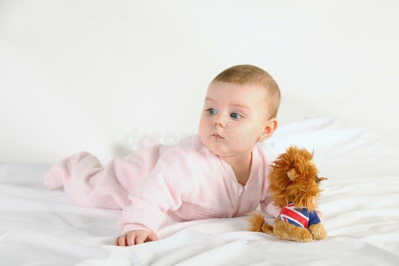 μωρό ευτυχές λίγα στοκ εικόνα