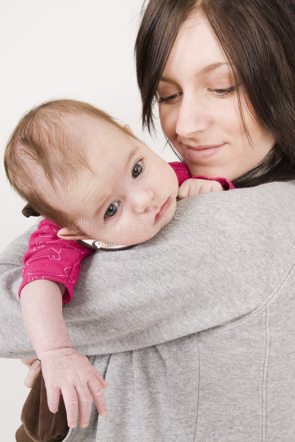 μωρό η μητέρα της στοκ εικόνα