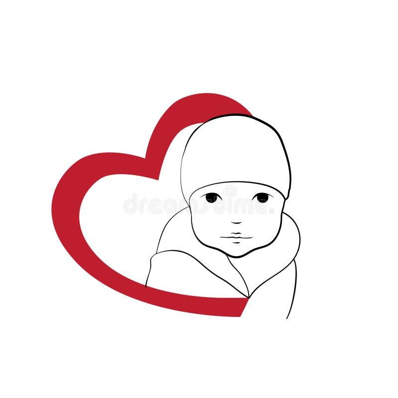 Μωρό καρδιών διανυσματική απεικόνιση