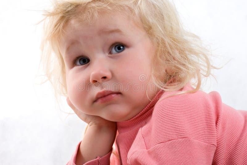 μωρό λυπημένο στοκ φωτογραφία