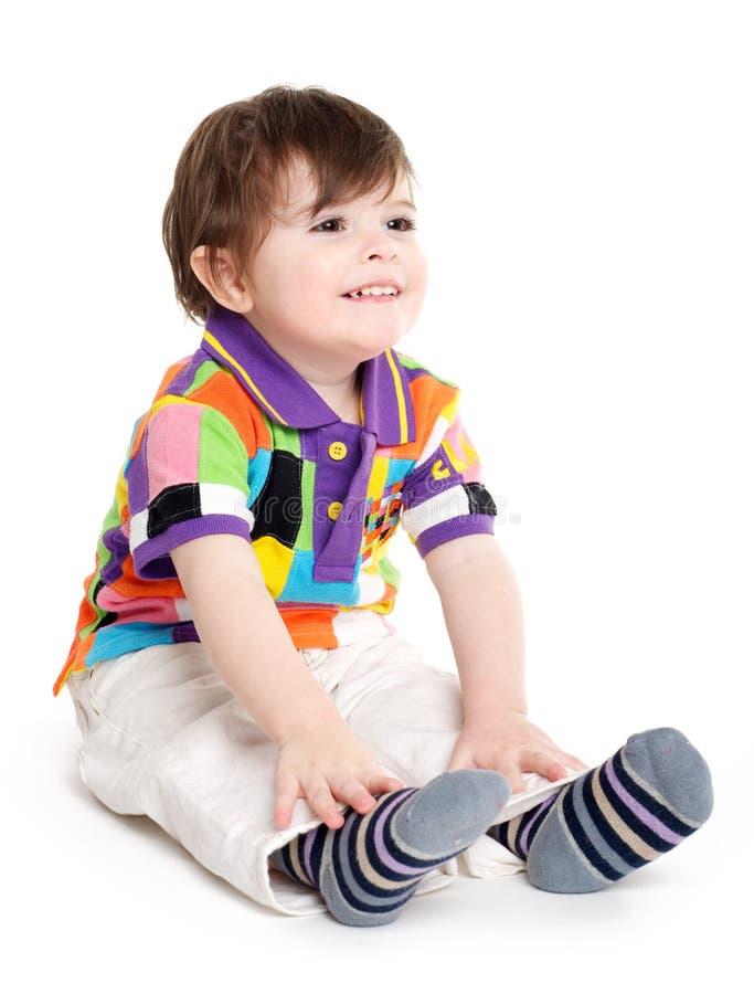 Μωρό μικρών παιδιών που έχει τη διασκέδαση στοκ εικόνα με δικαίωμα ελεύθερης χρήσης
