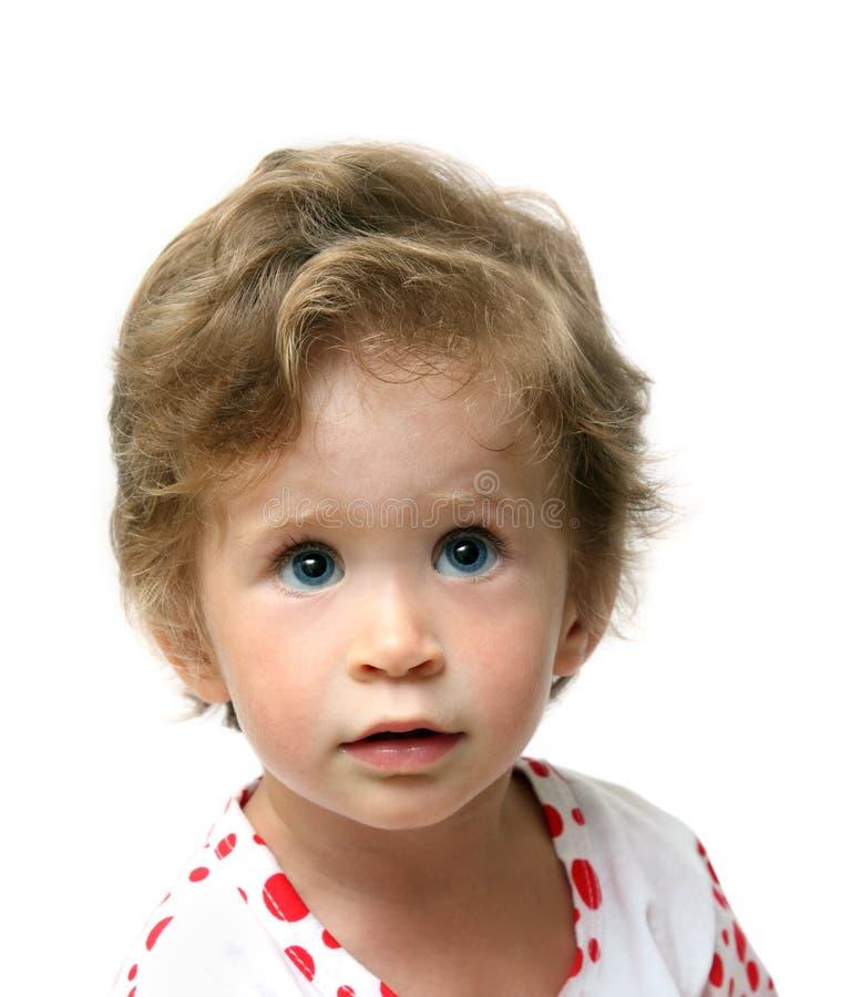 μωρό που ανατρέχει πορτρέτ&omic στοκ εικόνα με δικαίωμα ελεύθερης χρήσης