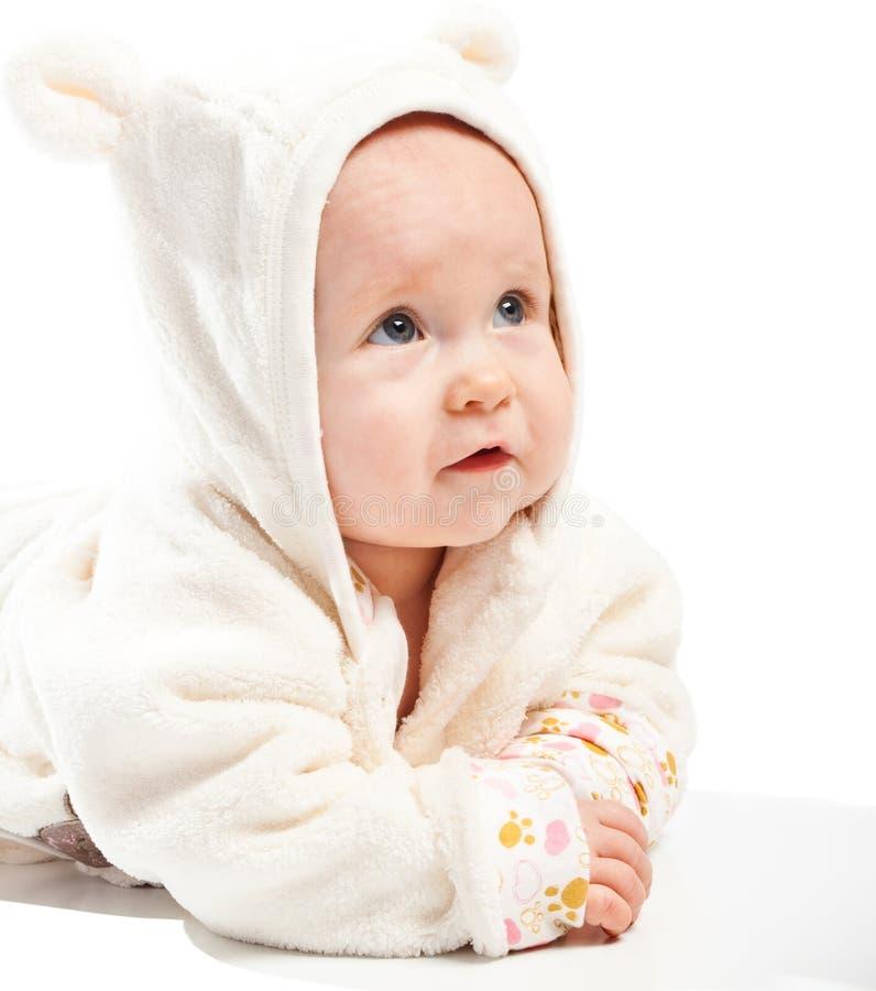 μωρό που ανατρέχει στοκ φωτογραφία