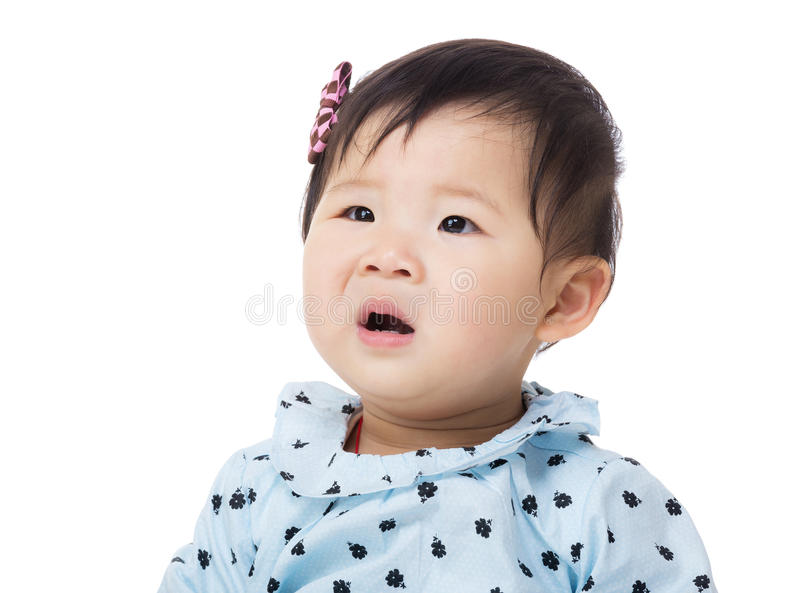 Μωρό που κάνει το αστείο έκπληκτο πρόσωπο στοκ φωτογραφία με δικαίωμα ελεύθερης χρήσης