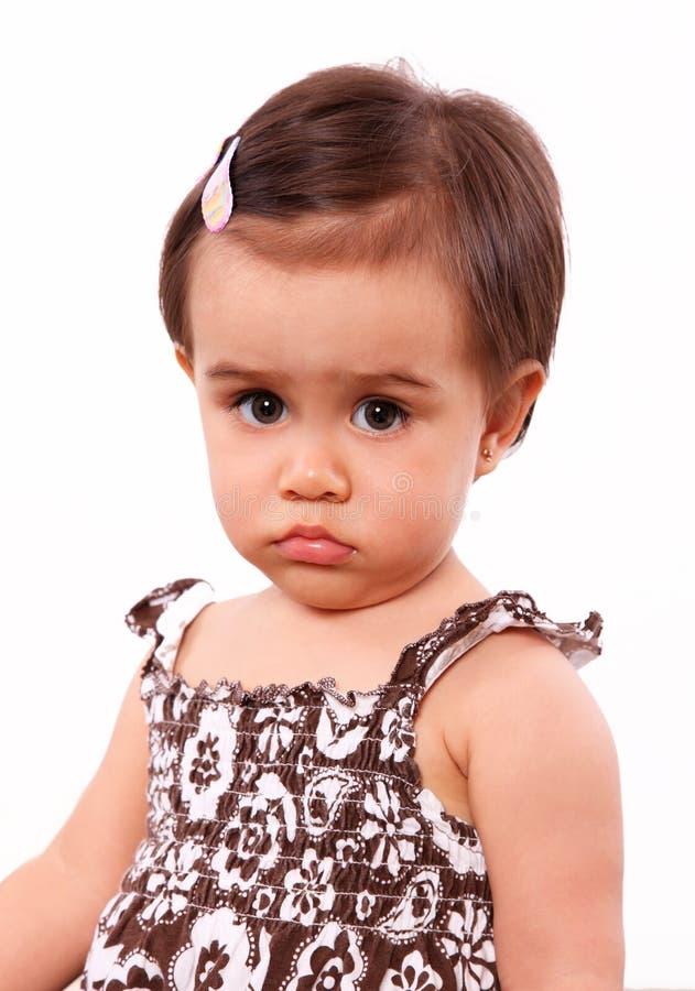 μωρό σοβαρό στοκ φωτογραφία